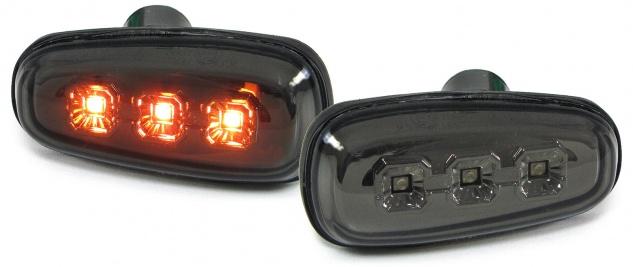 LED Seitenblinker Klarglas schwarz smoke für Opel Astra G 97-04 Zafira A 99-05