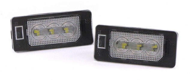 LED Kennzeichenbeleuchtung High Power weiß 6000K passt für Audi A1 S1 ab 2010