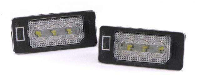 LED Kennzeichenbeleuchtung High Power weiß 6000K passt für Audi Q5 Typ 8R ab 08