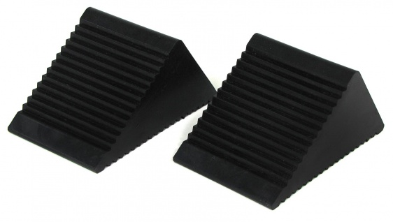 Anhänger KFZ Unterlegkeile Bremskeile Bremsklötze schwarz Paar