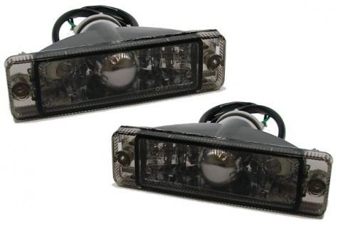 Klarglas Blinker mit Standlicht schwarz für VW Golf 1 + 2 / Polo