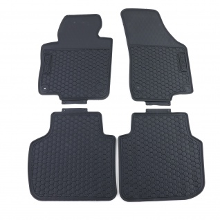 Premium Gummi Fußmatten Set Schwarz für VW Passat B7 Limousine Variant 10-14