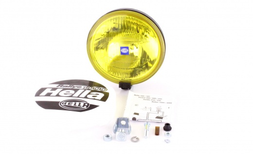 Original Hella Comet 1000 Fernscheinwerfer H2 mit Kappe gelb rund universal