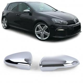 Spiegelkappen Außenspiegel Abdeckungen Cover Chrom Paar für VW Golf 6 5K1 08-12