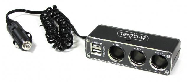 12 Volt 5-fach Steckdose KFZ Auto Stecker mit 3x 12Volt und 2x USB Anschluss