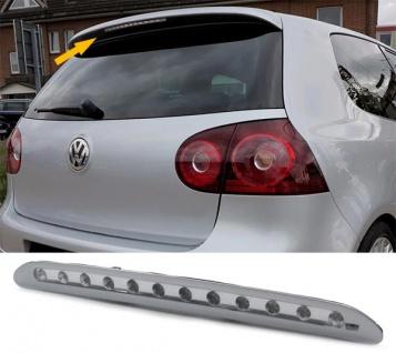 Dritte LED Bremsleuchte Klarglas chrom für VW Golf 5 Limousine ab 03-08