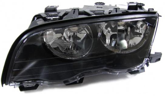 Scheinwerfer H7 H7 schwarz links für BMW 3ER E46 Limousine Touring 98-01