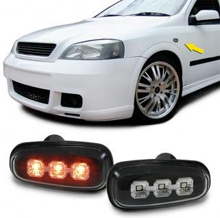LED Seitenblinker Klarglas schwarz für Opel Astra G 97-04 Zafira A 99-05