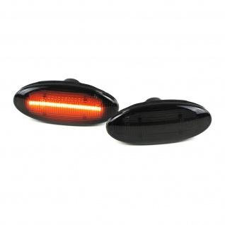 LED Lightbar Seitenblinker schwarz Paar für Nissan Micra IV Note Qashqai Juke