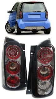 LED Rückleuchten Carbon für Smart Coupe ForTwo MC01 450 98-04 MC01