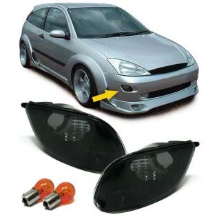 Klarglas Blinker schwarz Paar mit Leuchtmittel für Ford Focus 98-01 - Vorschau 5