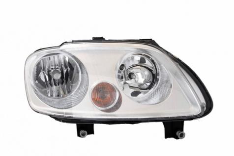 H1 / H7 Scheinwerfer chrom rechts TYC für VW Caddy III 04-10