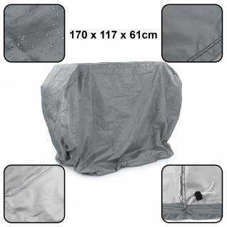 Premium Grillabdeckung Schutzhülle Cover BBQ Grill Schutz Grau L 170x117x61cm