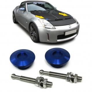 Alu Motorhauben Schnellverschluss Verriegelung Rennsport blau