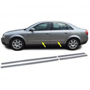 Stoßleisten Zierleisten Türleisten Set für Audi A4 B6 8E 00-04