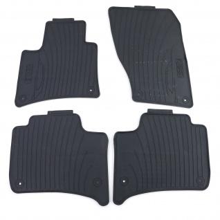 Premium Gummi Fußmatten Set 4-teilig Schwarz für Porsche Cayenne 10-19