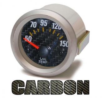 Öltemperatur Anzeige Zusatz Instrument 52mm - Carbon