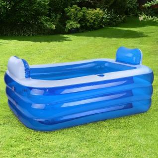 RELAX Pool Swimmingpool mit Kopfstützen und Cupholder Rechteckig 150x105x55cm