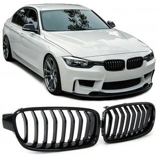 Nieren Sport Grill schwarz glänzend für BMW 3ER F30 F31 Limousine Touring