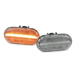 Dynamische LED Seitenblinker weiss klar Paar für Smart Fortwo 453 ab 14