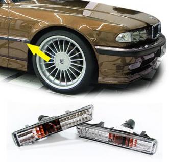 Weiße Klarglas Seitenblinker Kristall für BMW 7er E38 94-01