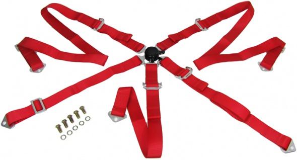 Hosenträgergurt 5 Punkt rot Tenzo-R Rennsport