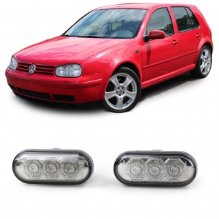 LED Seitenblinker Chrom Smoke für VW Golf 3 4 Bora Lupo Passat 3B 3BG Sharan