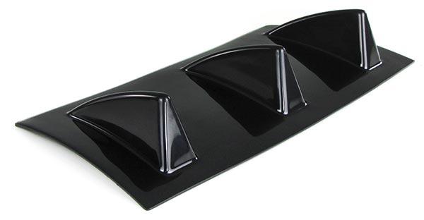 Universal Heck Diffusor für Stoßstange hinten mit 3 Finnen lackierbar - Vorschau 5