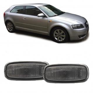 Seitenblinker schwarz smoke Paar für Audi A8 4G A4 8D2 A3 8L A6 C5 TT 8N A2