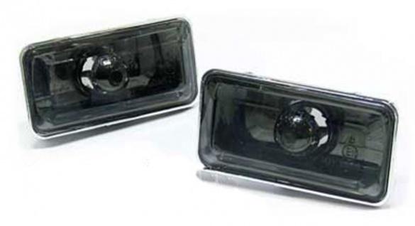 Klarglas Seitenblinker Blackchrom für VW Golf 3 + Vento bis 95 + Passat 35i