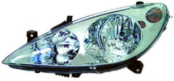 H1 / H7 Scheinwerfer links TYC für Peugeot 307 CC 3B 03-05
