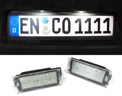 LED Kennzeichenbeleuchtung weiß 6000K für Renault Twingo Clio Megane Laguna