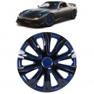 Radkappen Radzierblenden für Stahlfelgen Set Tenzo-R XII 15 Zoll schwarz blau