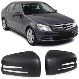 Carbon matt Spiegelkappen zum Austausch für Mercedes A Klasse W176 B W246 C W204 - Vorschau 3