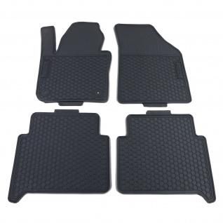 Premium Gummi Fußmatten Set 4-teilig Schwarz für VW Touran 1T 03-15
