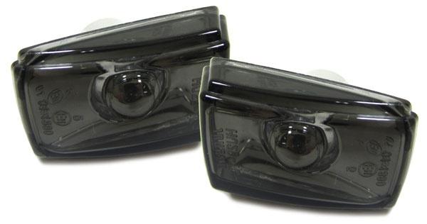 Klarglas Seitenblinker schwarz für Volvo S40 V40 S70 V70 C70 850 940