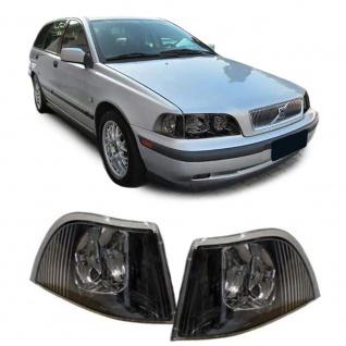Klarglas Blinker schwarz smoke Paar für Volvo V40 Limousine S40 Kombi 97-00