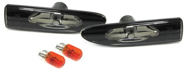 Klarglas Seitenblinker schwarz für Jaguar X Type X-Type Limousine Kombi 01-09