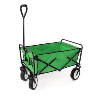 Garten Transport Faltwagen Handwagen Bollerwagen klappbar bis 80kg grün - Vorschau 2