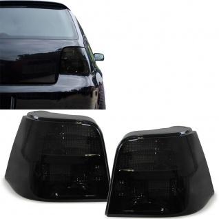 Klarglas Rückleuchten schwarz smoke für VW Golf 4 1J1 Limousine 97-03