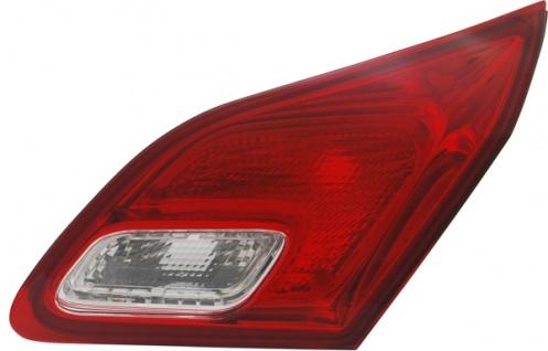 Rückleuchte / Heckleuchte innen rot weiß rechts TYC für Opel Astra J 09-