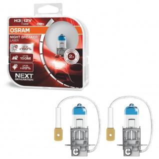 Osram Night Breaker Laser H3 55W 12V Halogen Leuchtmittel 150% 2 Stück