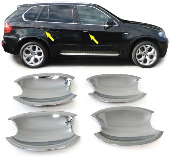 Türgriffmulde Blende Cover Abdeckung chrom für BMW X5 E70 X6 E71 3ER E90 E91
