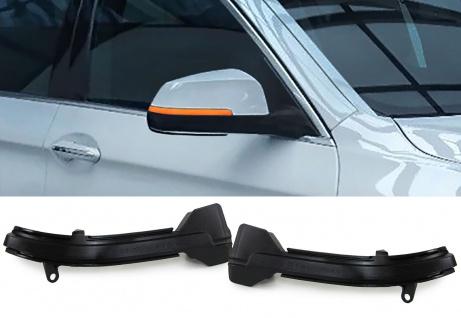 Dynamische LED Spiegel Blinker schwarz für BMW 5er F10 F11 ab 13 GT F07 09-17