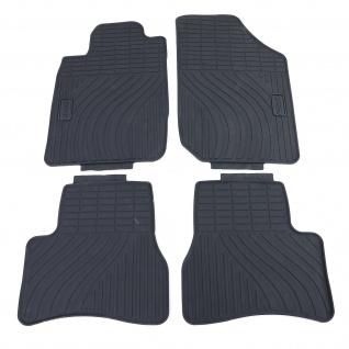 Premium Gummi Fußmatten Set 4-teilig Schwarz für Peugeot 207 WA WC WK 06-14