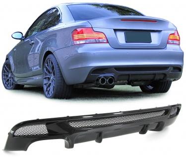Carbon Heck Diffusor Einsatz Stoßstange passend für BMW 1ER E82 E88 11-13