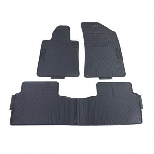 Premium Gummi Fußmatten Set 4-teilig Schwarz für Peugeot 508 8D 8F ab 10