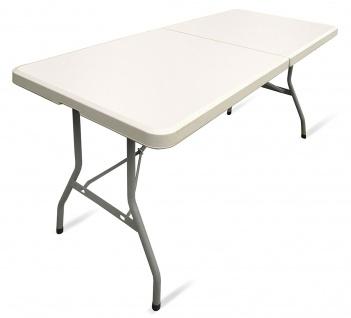 Garten Party klapp Tisch mit Tragegriff creme Beige Hell 183x75x74 CM
