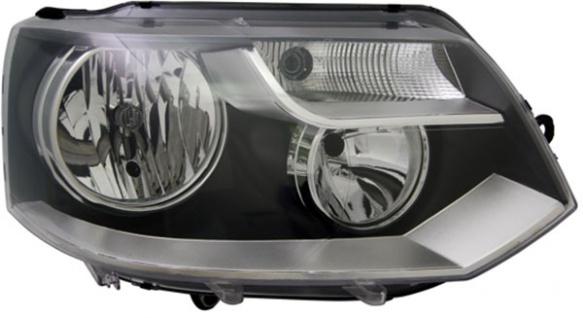H7 / H15 Scheinwerfer schwarz rechts TYC für VW Multivan T5 09-