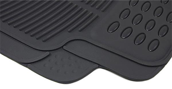 Auto Gummi Fußmatten NBR Set 4 teilig zuschneidbar Schwarz universal - Vorschau 3